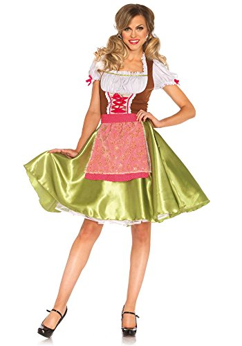 [Leg Avenue Women's 2 Piece Darling Greta Costume, Multi, Medium] (Dirndl Costume)