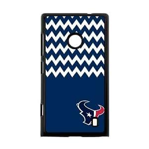 Blue and White Chevron Houston Texans logo Case Cover for Nokia Lumia 520Case Cover Shell (Laser Technology)
