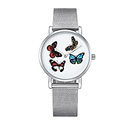 MUMUWU 6812 Beat Dial Alloy Silver Case Fashion Women Watch Quartz Watches with Stainless Steel Band Stately Occasions (SKU : Wa0730b)