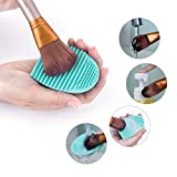 2 Pack of brush egg, makeup brush cleaner, silicone
