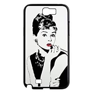 TOSOUL Diy Phone Case Audrey Hepburn Pattern Hard Case For Samsung Galaxy Note 2 N7100