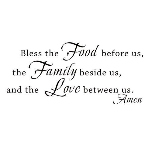 Bible Quotes For The Kitchen: Bible Wall Decal Bless The Food Before Us Vinyl Religious