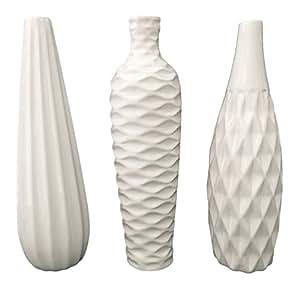 StealStreet SS-DD-MW30 Nadia Collection Three Ceramic Vase Set