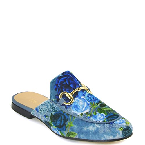275 Central - 784 - Mula Estampada Floral, Azul 38.5 Medium