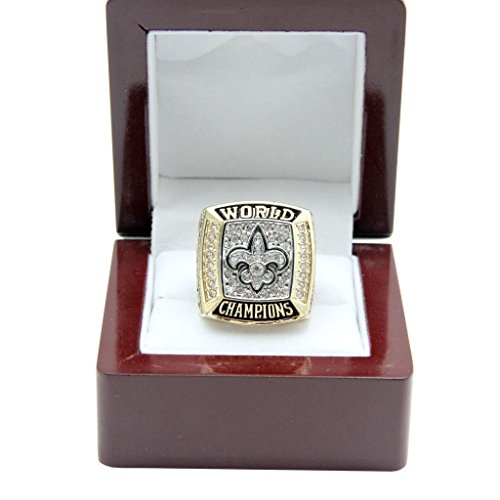 Football Fanatics New Orleans Saints 2009 NFL Super Bowl XLIV Championship Ring (Size 10-13) (Championship Rings Size 13)