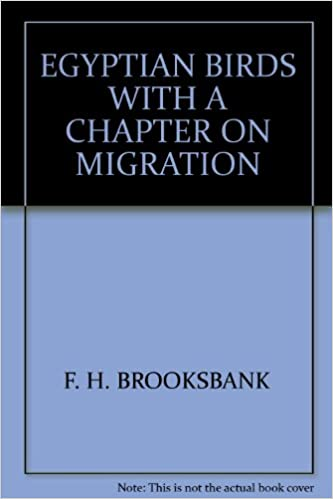 Book EGYPTIAN BIRDS WITH A CHAPTER ON MIGRATION