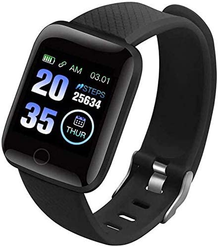 YUNHAI Smart Watch is Suitable for Android Phones and iOS Phones, Compatible with iPhone Samsung, IP68 Swimming Waterproof Smart Watch Fitness Tracker, Heart Rate Monitor, Men's and Women's Black