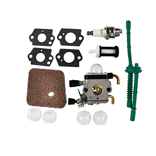 TDPARTS Carburetor for Stihl FS80, ZAMA Carb C1Q-S97 with Fuel Repower Kit Air Filter for STIHL FC55 FC75 FC85 FS45 FS45C FS45L FS55 FS55C FS55R FS55RC FS55T FS75 FS80 FS85 Trimmer Weedeater