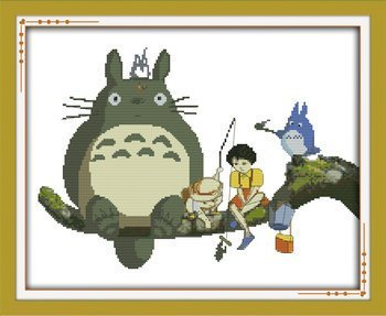 Joy Sunday Cross Stitch kits, Totoro,11CT Stamped, 54cm×4...