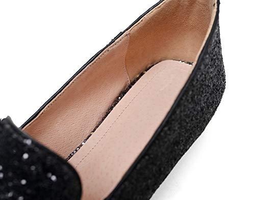 5 Femme Noir 36 Sandales Noir Compensées AdeeSu SDC05987 gxPwqvn0