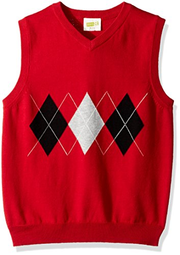 Red Argyle Sweater Vest - 1