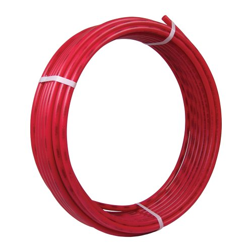 SharkBite PEX Pipe Tubing 3/8 Inch, Red, Flexible Water Tube, Potable Water, U855R100, 100 Foot Coil
