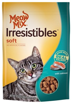 Meow Mix Irresistibles Soft Cat Treats with Real Salmon, 6.5 oz. (203095)
