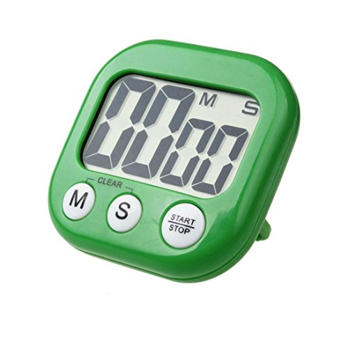 (DZT1968 LCD Digital Kitchen Cooking Timer Clock Loud Alarm With Stand (Green) )