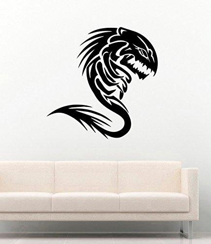 Vinyl Decal Fish Hobbies Piranha Skeleton Vinyl Murals Stickers Home Decor MK5020