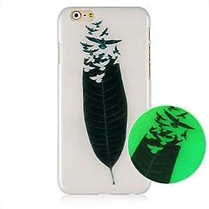 SHOUJIKE Leaf Pattern Luminated Hard Back Case for iPhone 6