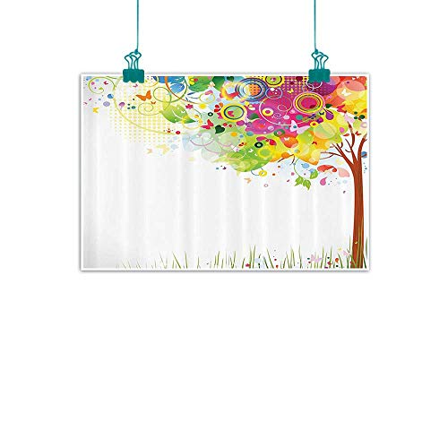 luxury American oil painting Tree of Life Colorful Pastoral Creative Design Modern Style Art Abstract Paints Illustration Artwork Home and everything 24