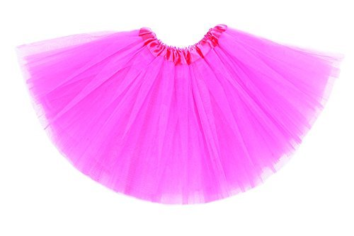 Anleolife 12'' Girl Tutu Skirt Party Tutus Pure Color (hot Pink) ()