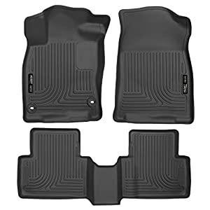 Husky Liners 98461 Black Weatherbeater Front & 2nd Seat Floor Liners Fits 2016-2019 Honda Civic Coupe/Sedan, 2017-2019…