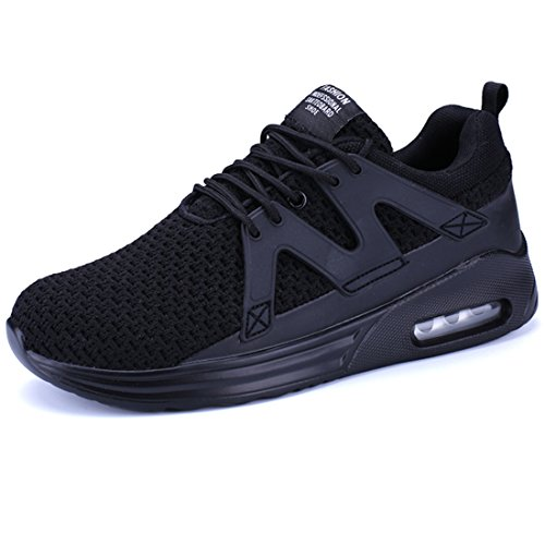 Flyknit and Shoes Breathable Black Sneakers Sock Sports Lightweight Womens 1 KRIMUS Mens Running Shoes Walking wvx5FWHq