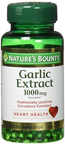 Nature's Bounty Garlic 1000 mg, 100 Reduced Odor Softgels (Pack of 3)