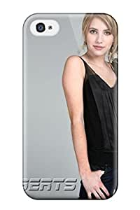 Durable Defender Case For Iphone 4/4s Tpu Cover(emma Roberts?wallpaper )