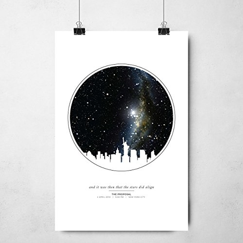 - Personalized Star Map Unframed Print | Night Sky Print | Custom Star Art | Star Map Poster | Night Sky Gift | Star Art By Date | Anniversary Gift