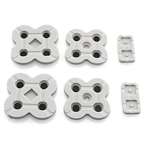 RuiLing 2Set Conductive Rubber Button Pad Silicone Dpad Replacement Part for NDSL/DSL/Nintendo DS Lite Game Repair