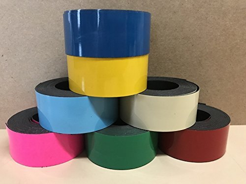 7 Rolls of 2'' x 25' Dry Erase Magnet