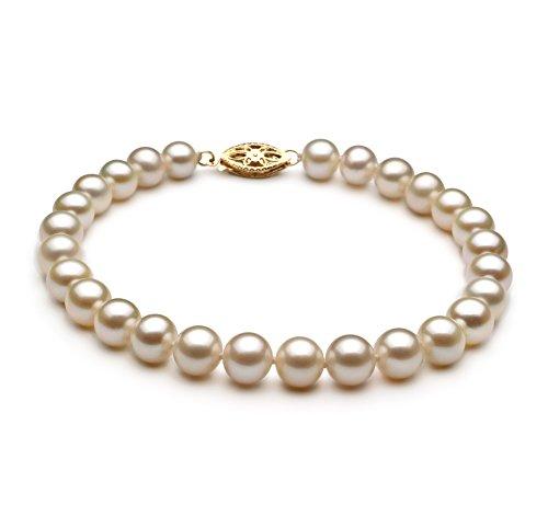 Blanc 6-7mm AA-qualité perles d'eau douce -Bracelet de perles