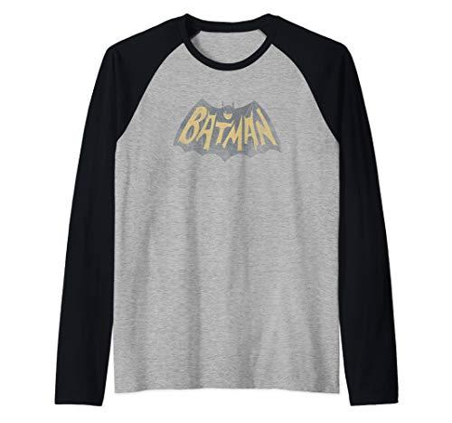 Batman Classic TV Series Show Logo Raglan Baseball Tee