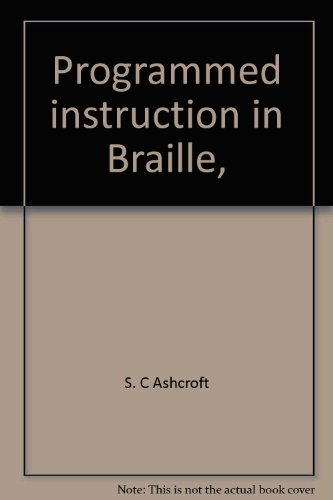 Programmed instruction in Braille,