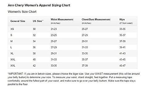Ann chery size chart