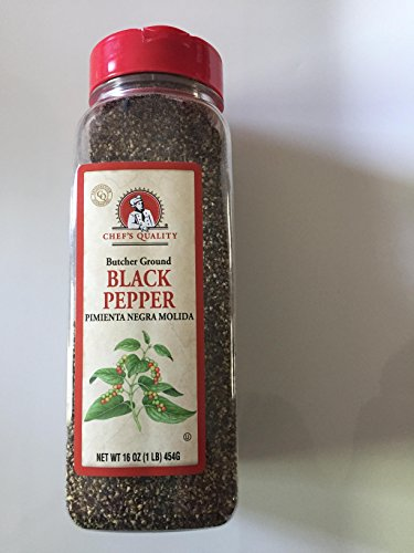 (Black Pepper Butcher Ground - Chefs Quality 1LB, Best Food Seasoning, Premium Restaurant Quality (Butcher Ground Pepper))