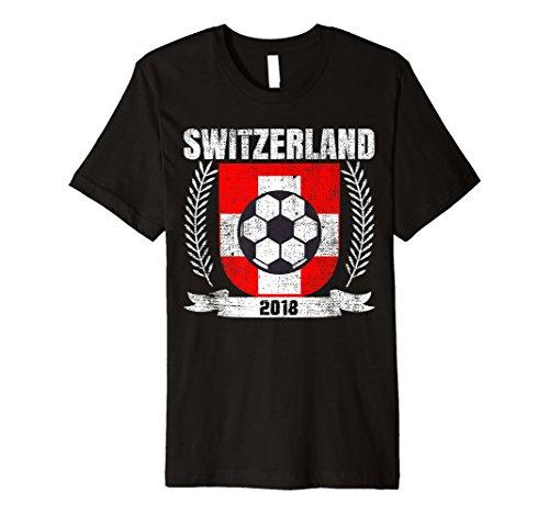 Swiss 2018 Football Switzerland Soccer Fan Jersey T-Shirt