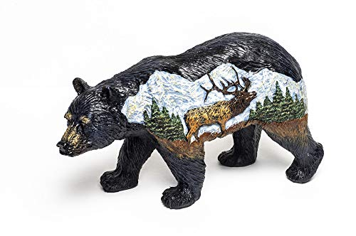 Bear Country Bear with Elk Figurine Statue Bcel ()