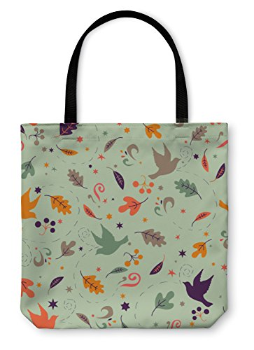 Gear New Shoulder Tote Hand Bag, Pattern With Autumn Leaves, 18x18, 4173443GN - Fall Foliage Decor Wrap