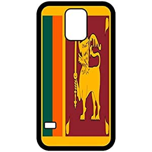 Sri Lanka Flag Black Samsung Galaxy S5 Cell Phone Case - Cover