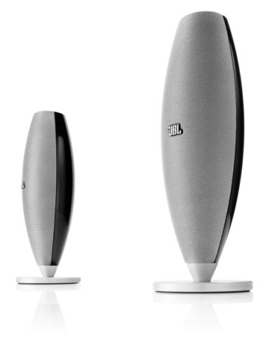 JBL Duet III Premium High Performance Speaker System for Portable Music and PC - Black/Silver (Pair)