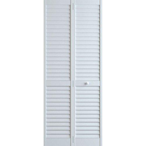 Louver Closet Doors (Plantation Louver/Louver Bifold, White, 36