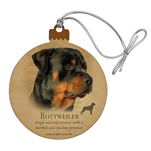 GRAPHICS & MORE Rottweiler Rottie Dog Breed Wood Christmas Tree Holiday Ornament