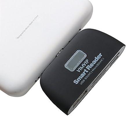 VIMVIP 4 en 1 Micro USB Adaptador de Lector de Tarjetas con OTG/TF ...