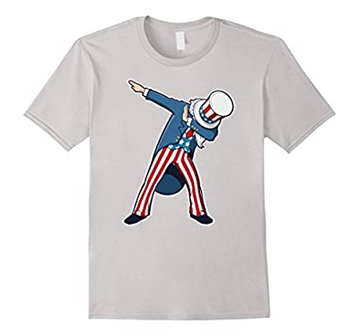 Funny Dabbing Shirt Patriotic Sam United States Of America