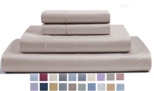 CHATEAU HOME COLLECTION 800-Thread-Count Egyptian Cotton Deep Pocket Sateen Weave Queen Sheet (Sateen Pocket)