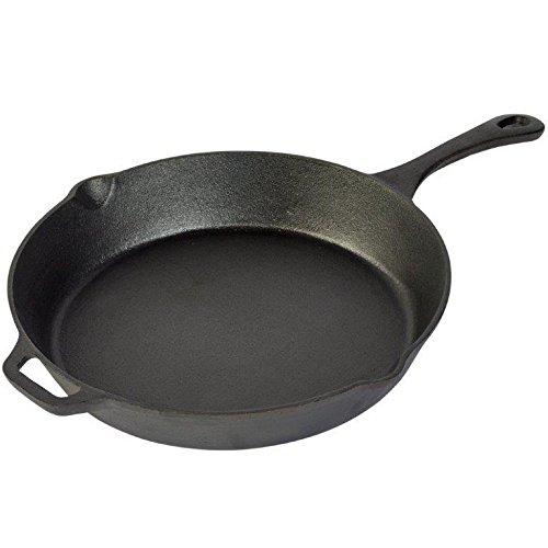 Basic Essentials TTU-U0376 Cookware Cast Iron Pan, Small, Black