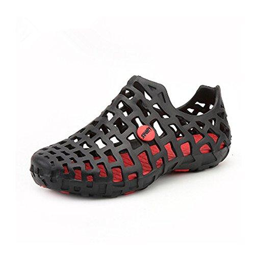 5 Sandalia Playa Sandalias Zapatos del Antideslizantes de Zuecos 27cm de Negro 24 Ocasional Ligera los la de Transpirable y Sandalias de Mula Malla los Impermeables Hombres Verano de Hombres la 1pFAH