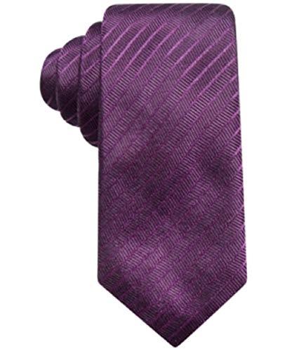 Alfani Men's Stripe Silk Slim Tie Purple Alfani Mens Silk Tie