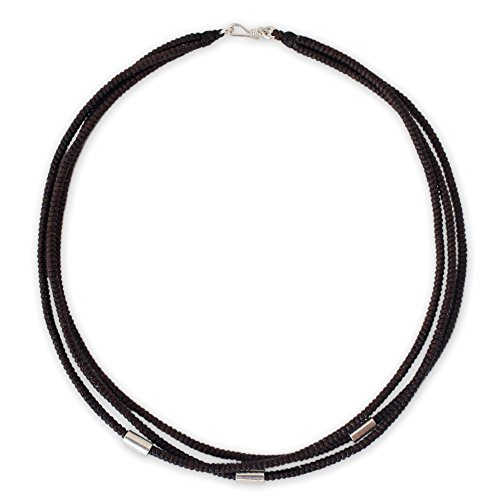 Hill Tribe Silver Artisan Necklace - NOVICA .950 Silver Accent Choker Necklace, 16.25