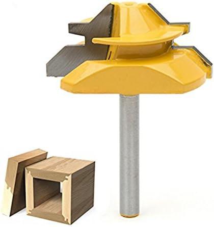 """SROL 45 Grad Verleimfräser Gehrung Fräse Lock Miter Router Bit 1/4 """"Shank Oberfräser Holzbearbeitung Fräse Werkzeug für Graviermaschine Trimmmaschine"""