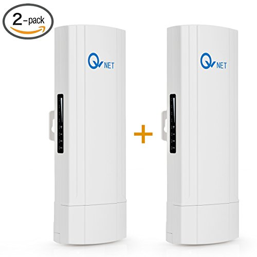 QW CPE5450 Wireless Bridge - 5GHz 450Mbps 802.11ac Pre-configured CPE Kit,Indoor & Outdoor Point-to-Point AP/Client Bridge/CPE, Wireless Access Point/Bridge kit【2-Pack】 (Max Range Point Wireless Access)